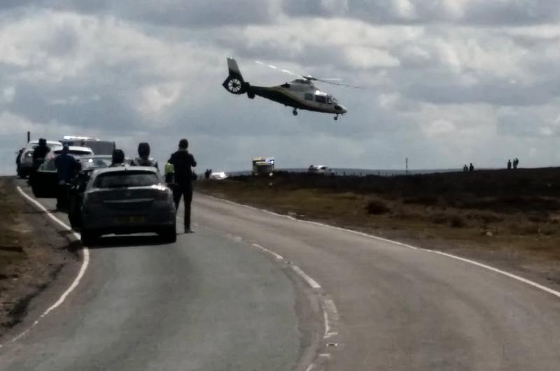 Great North Air Ambulance departs the scene